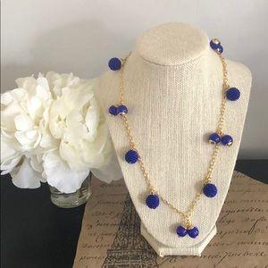 J. Crew Blue Enamel Beaded necklace